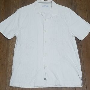 Tommy Bahama Embroidered Short Sleeve Button Down